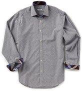 Thomas Dean Big & Tall Check Dobby Long-Sleeve Woven Shirt