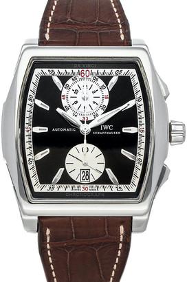 IWC Black Stainless Steel Da Vinci Chronograph IW3764-03 Men's Wristwatch 51 x 43 MM