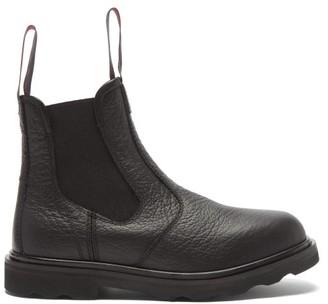 Marni Logo-tab Leather Chelsea Boots - Black