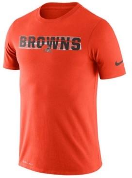 Nike Men's Cleveland Browns Dri-fit Mezzo Tear T-Shirt