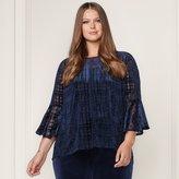 Lauren Conrad Runway Collection Velvet Flocked Top - Plus Size