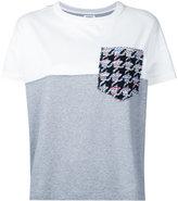 Coohem tweed pocket T-shirt - women - Cotton - 36