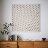 west elm Whitewashed Wood Wall Art - Overlapping Lines