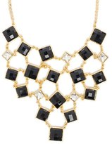 Amrita Singh Color Block Bib Necklace Jet Black