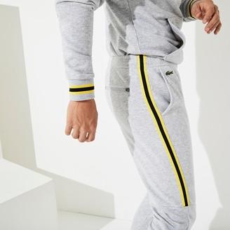 Lacoste Men's SPORT Racing Stripe Fleece Track Pants