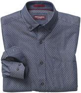 Johnston & Murphy Dotted Diamond-Print Denim Shirt
