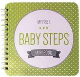 """Baby Steps Book NEW! Baby First Year Memory Mini Book. """"Modernista""""(TM), Poly Cover Hand Made. Intimate, travel size memory keeper record book and journal for Boy or Girl. 5x5"""" - Best Shower Gift!"""