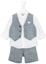 Armani Junior three piece short set - kids - Linen/Flax - 12 mth
