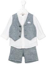 Armani Junior three piece short set - kids - Linen/Flax - 6 mth
