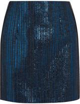 Thierry Mugler Lamé Mini Skirt - Bright blue