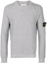Stone Island logo patch crew neck sweater