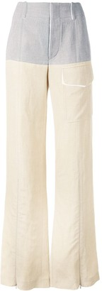 Chloé Colour Block Wide Leg Trousers