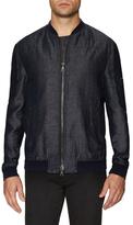 Slim Fit Zip Front Bomber Jacket