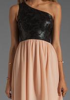 Erin Fetherston ERIN Nadia Dress in Black/Cameo Rose Combo