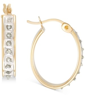 Giani Bernini Diamond Accent Oval Earrings in 18k Gold-Plated Sterling Silver, Created for Macy's