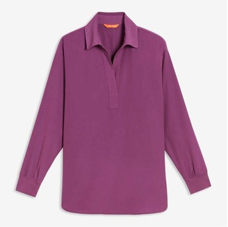 Joe Fresh Women's V-Neck Blouse, Purple (Size XL)