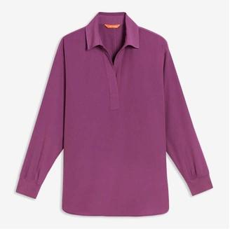 Joe Fresh Women's V-Neck Blouse, Purple (Size XS)