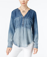 William Rast Selina Ombré Denim Shirt