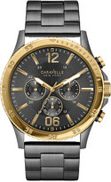 Bulova Caravelle New York by Men's Chronograph Gunmetal-Tone Stainless Steel Bracelet Watch 44mm 45A119
