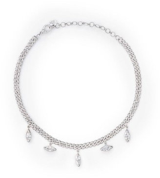 Shay 18kt white gold Maquise diamond drop necklace
