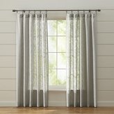 Crate & Barrel Lindstrom Grey Curtains