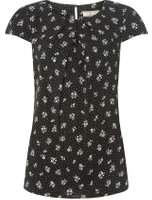 Dorothy Perkins Womens **Billie & Blossom Tall Black Ditsy Print Shell Top