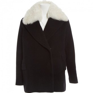 HUGO BOSS Black Wool Coats