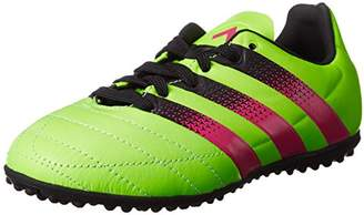 adidas Ace 16.3 TF J Leather Boots For Boy, Multi-Colour, Green / Pink / Black