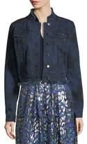 Elie Tahari Esperanza Lace-Back Denim Jacket