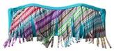Junior's Bandeau Swim Top w/ Fringe -Multicolor