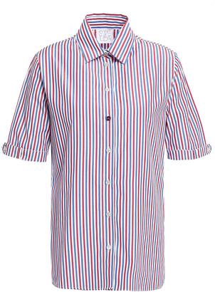 Stella Jean Striped Cotton-blend Poplin Shirt