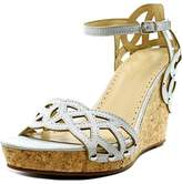 Adrienne Vittadini Chavi Open Toe Synthetic Wedge Sandal.