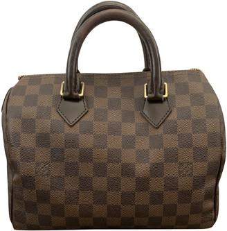 Louis Vuitton Speedy Brown Cloth Handbags