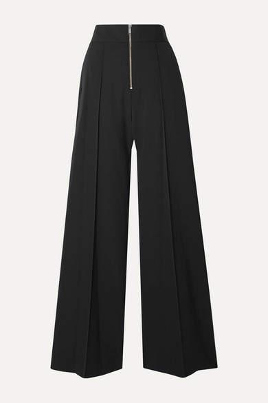 Maison Margiela Crepe Wide-leg Pants - Black