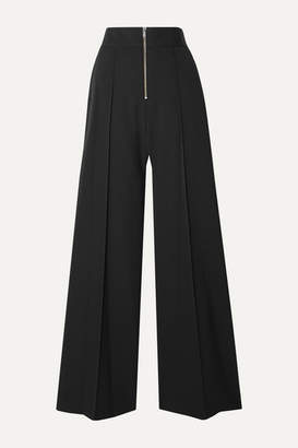 Maison Margiela Crepe Wide-leg Pants - Black