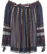 Chloé Off-the-shoulder Cotton Lace Blouse