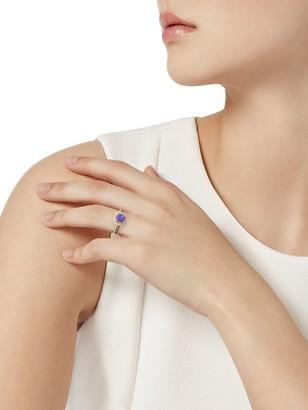Effy 14K Rose Gold, Tanzanite, White & Espresso Diamond Ring