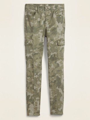 Old Navy High-Waisted Camo Sateen Rockstar Super Skinny Cargo Pants for Women