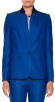 Stella McCartney Fleur Stand-Collar One-Button Jacket, Cornflower Blue