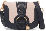 See by Chloe Hana Small Textured-leather And Suede Shoulder Bag - Midnight blue