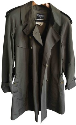 Chanel Brown Silk Trench coats