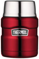 Thermos NEW Stainless King Vacuum Insulated Food Jar with Spoon, 470ml - Red