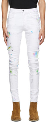 Amiri White Painter Workman Skinny Jeans