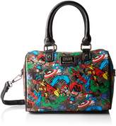 Loungefly womens Marvel Avengers All Over Print Faux Leather Crossbody Purse Standard