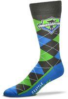 For Bare Feet Men's Seattle Sounders Argyle Dress Socks