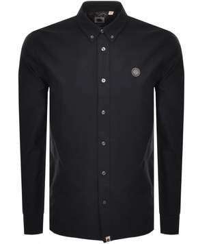 Pretty Green Long Sleeved Oxford Shirt Black