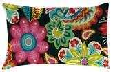 Jordan Outdoor Throw Pillow Set Manufacturing Multi-colored Bright Pink Green Black