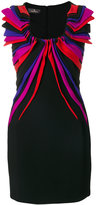 Capucci draped appliqué mini dress - women - Silk/Polyester/Spandex/Elastane/Viscose - 42