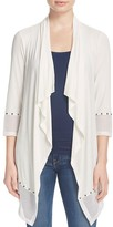 Milano Essentials by Stud Mesh Trim Open Cardigan