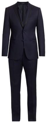 Emporio Armani Peak Lapel Virgin Wool Suit